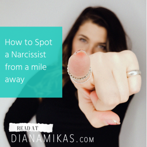 How to spot a narcissist from a mile away.